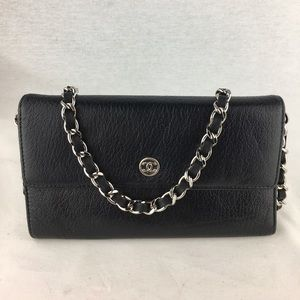CHANEL CC Button Flap Wallet on Chain